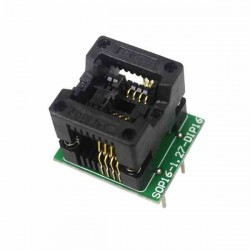 SOCKET ADAPTADOR 150MIL SOIC - DIP 8 PINES ZIP, BIOS, EEPROM