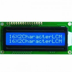PANTALLA LCD 16X2 ALFANUMERICA,  BACKLITHG AZUL DISPLAY 1602