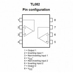 TL082 AMPLIFICADOR OPERACIONAL
