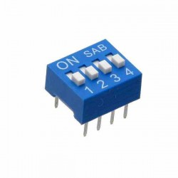DIP SWITCH 4 PINES