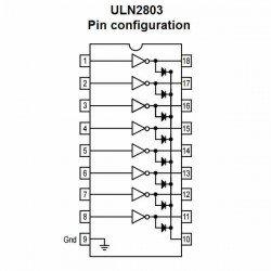 ULN2803 TRANSISTORES DARLINGTON