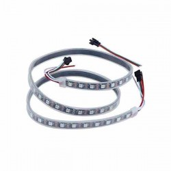 CINTA LED RGB WS2812B 144 LEDS POR METRO NEGRA IP67