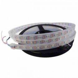 CINTA LED RBG WS2812B 60 LEDS POR METRO BLANCA IP67