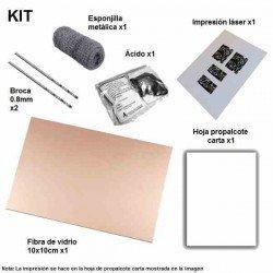 KIT PARA HACER PCB POR METODO DEL PLANCHADO (FIBRA 10X10)