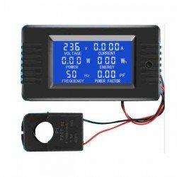 LCD MEDIDOR DE POTENCIA - ENERGÍA KWH 80-260V AC 60HZ 100A