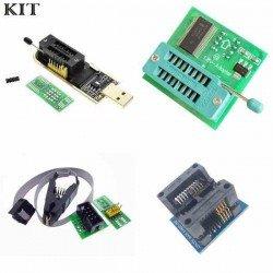 KIT BIOS PROGRAMADOR CH341 + PINZA + ADAPTADOR 1.8V + SOCALO