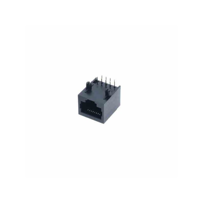 CONECTOR RJ45 8-PIN 90 GRADOS SOCKET PCB (PINES ARRIBA)