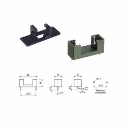 PORTAFUSIBLE PLASTICO PARA PCB 5X20MM
