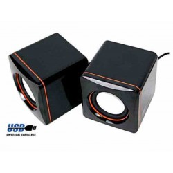 PARLANTES BAFLE MULTIMEDIA USB PARA PC 3W ESTEREO