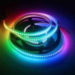 CINTA LED RBG WS2812B 144 LEDS POR METRO BLANCA IP67 METRO
