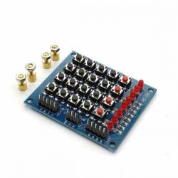 TECLADO MATRICIAL 4X4 YL-4, PULSADORES Y LEDS