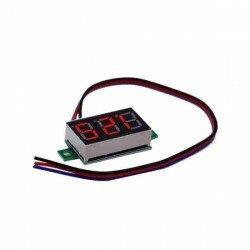 MINI VOLTÍMETRO DIGITAL 0-100V DC LED ROJO LF-109-004-V1